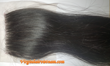 100% Virgin Vietnamese Hair Extensions Straight Lace Closure 16 Inches , Natural Human Hair, Natural Black Color