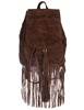 Faux Leather Fringed Fashion Travel Backpack