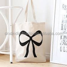 indian custom made organic cotton canvas tote bag