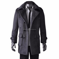 men's official wool long coats / 2015 new design men's wool long coat for office