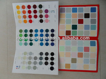 Color swatch color card