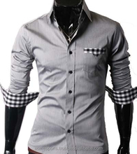 latest design men's slim fit dress shirt for business manufacture