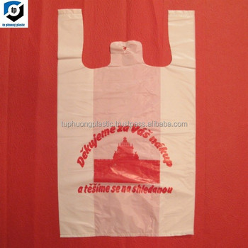 CHEAP price printed T-shirt bag/Block T-shirt bag/plastic tshirt bag