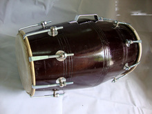 DHOLAK DRUMS 18 BOLT TUNED MADE WITH MANGO WOOD DHOLKI YOGA BHAJAN KIRTAN MANTRA Indian Musical Instrument