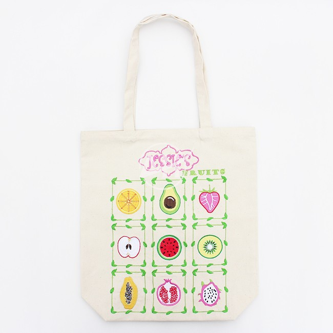 Embroidery cotton canvas tote bag, custom tote bag