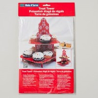 CUPCAKE STAND TREAT TOWER 8.5X12 SNOWFLAKE DESIGN CARDED #5716