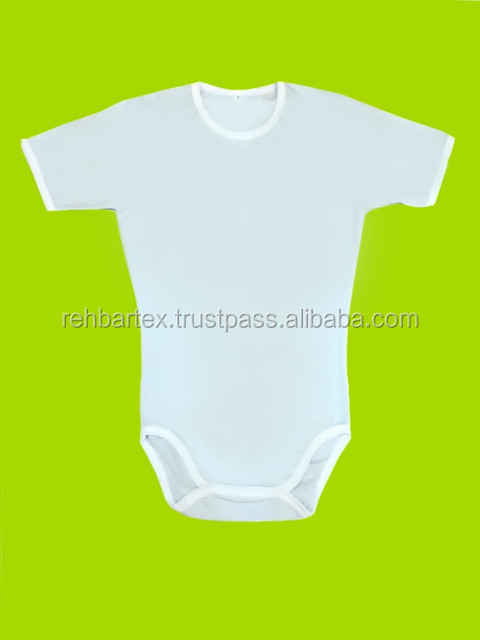100% Organic Cotton Single Jersey Body Suite (White, Off White & Dyed)