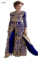 Impeccable Blue Color Georgette Semi-Stitched Party Wear Anarkali Salwar Kameez