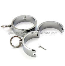 Steel locking slave Hand cuff Foot cuff collar sex bondage restraint fetish choker Complete Set adult game medical sex toys 004