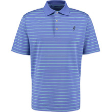Perfect lightweight Blue and white Striped Polo Shirt 90% Polyester, 10% Spandex
