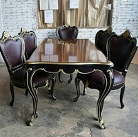 TEAK DINING SET JAVA INDO CARVED