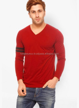 Free Sample Wholesale Blank V-neck T-Shirt In Bulk Blank
