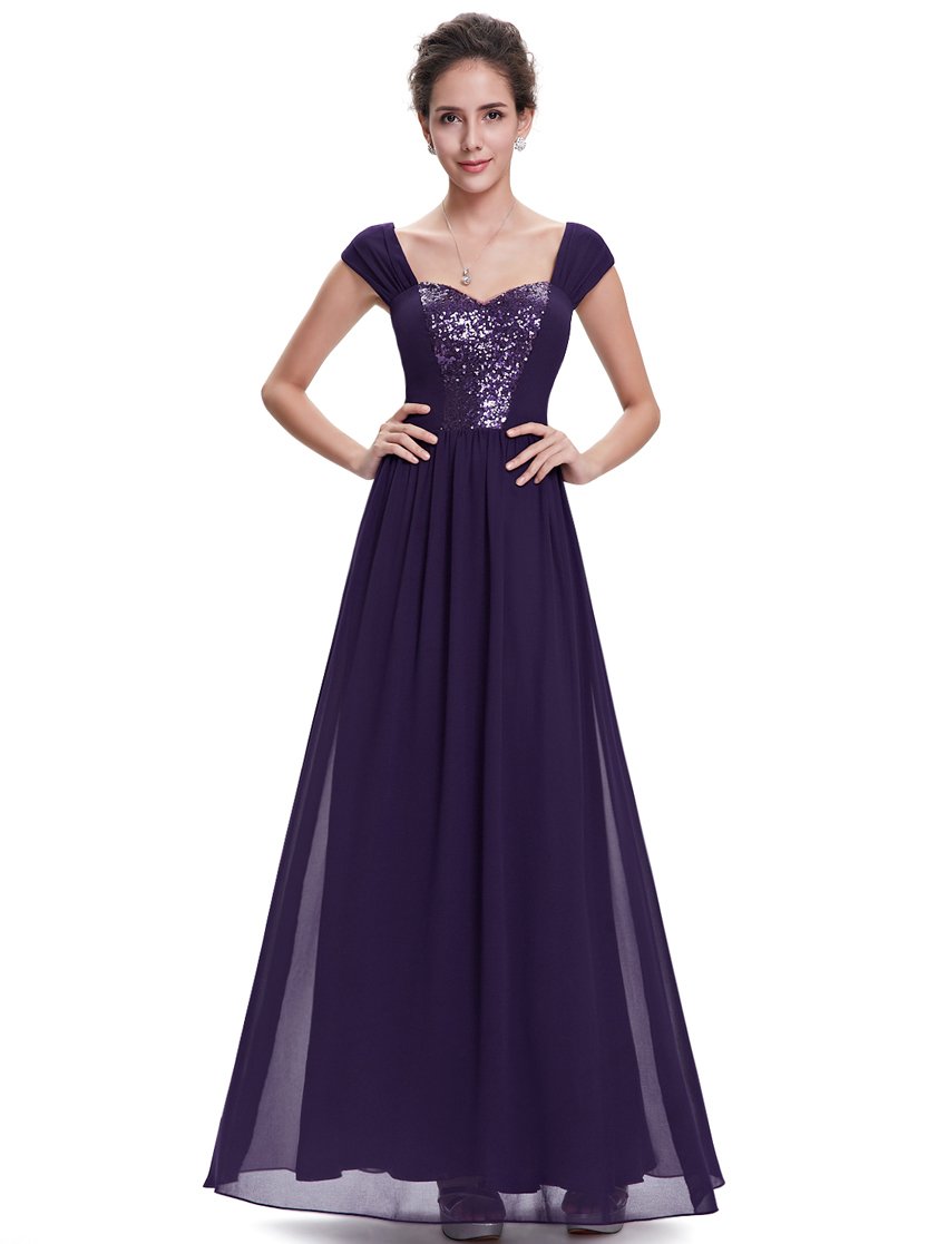 Women's Elegant Purple Long Evening Prom Dress HE08571 Mix Wholesale