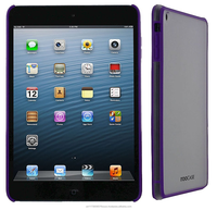 SL Fuse Slim Snap on Shell Case ABS polycarbonate plastic shell cover Impact Protection for iPad Mini roocase (Purple/Frost)