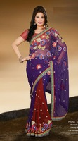 Shady Embroidery Colored Saree