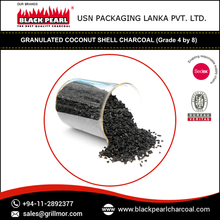 Activated Carbon from Coconut Charcoal in different sizes .