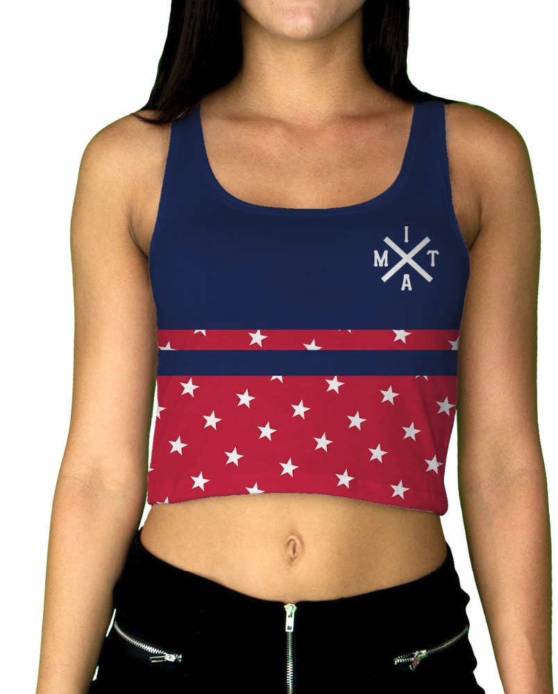 Liberty Womens Crop Top New 2016 Custom sublimation crop top for women for girls