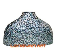 Mother of Pearl Shell Mosaic Lacquer Vase
