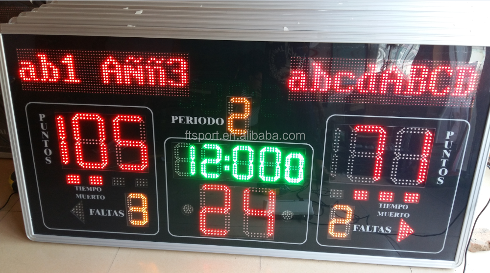 LED Basketball Scoreboard with controller and cable(Actual photo attached)