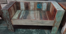 Recycled Wooden Sofa Ethnic Reclaimed