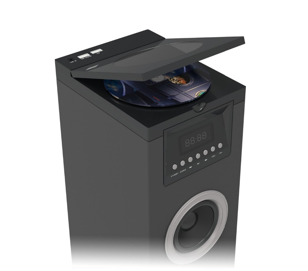 Wood CD speaker, CD tower, CD COMPOMENT, multiple cd player with built in speakers OHM-CD150