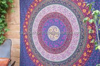 Six color work design beautifully design wall curtain bed spread , mandala throw