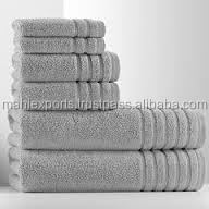 100% cOTTON luxury white towels for 5star hotel use