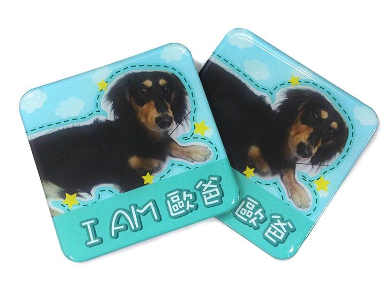 Personalizado personalizada brillante cuadrado en forma de perro 3d ...