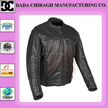 MENS CLASSIC BIKER MOTORCYCLE MOTORBIKE COWHIDE LEATHER JACKET