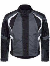 Short Biker jacket Cordura Textile Scooter Biker Black White Cordura Jacket