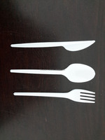white Spoon / fork /knife Single-use Disposable Plastic Cutlery Set Airplane ,restaurants,hotels and cafe