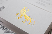 Custom printing gold foil business card with cheap price