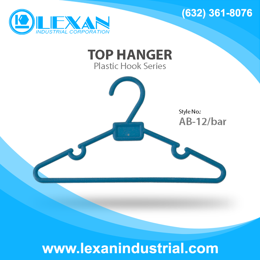"AB12 - 12"" Plastic Hanger for Tops, Shirt, Blouse (Philippines)"