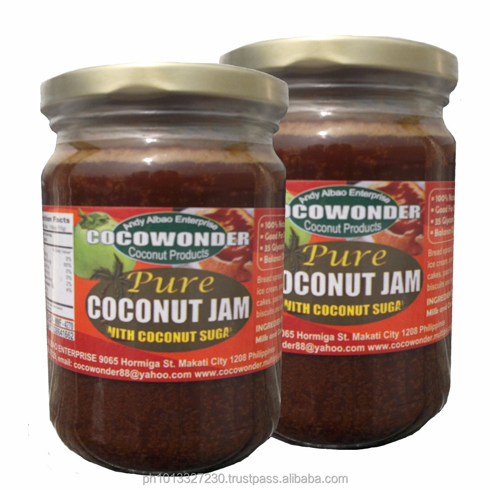 1000 grams (1kg.) PURE COCONUT JAM made of Coconut Milk & Coconut Nectar, 100% Natural & Functional Food