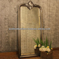 Large Decorative Wall Mirror With Antique Silver Leaf Finish - Joline Series
