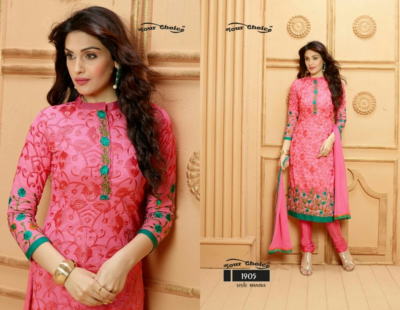 GEORGETTE EMBROIDARY WORKED SALWAR