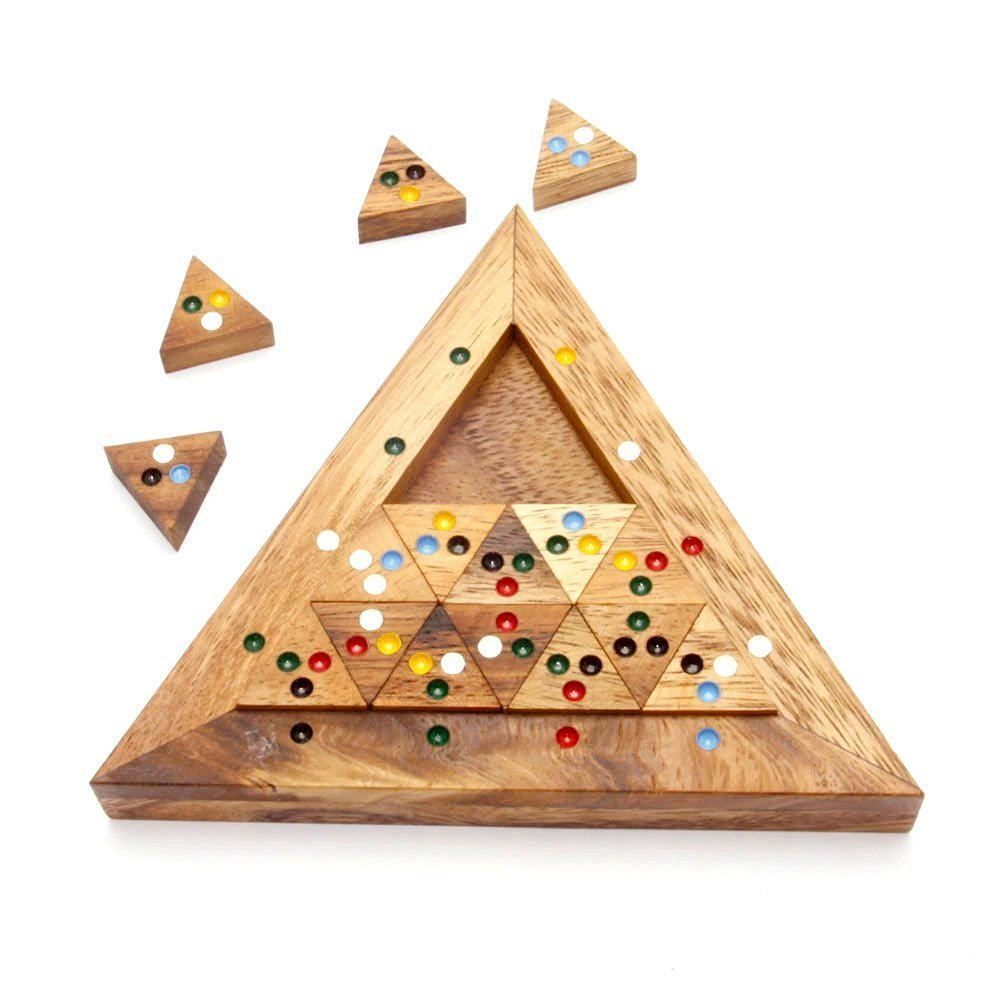 Handmade Puzzle Bermuda Triangle: Handmade & Organic Tiling Sliding Handmade Wooden Puzzles for Adults