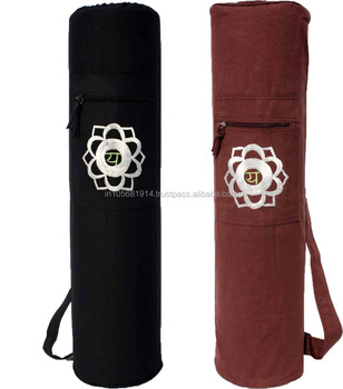 Custom size and color wide range of our zippered or drawstring yoga mat bag