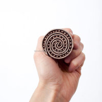 Spiral Stamp Handmade Wooden Printing Blocks