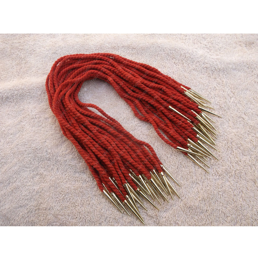 Arming Points Metal Aglets with cord red color for Medieval and Renaissance clothing, arming doublets, hose and dress