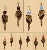 Wholesale Oxidised Copper Tone Danglers with ColorFul Beads 5 Pair Combo Pack