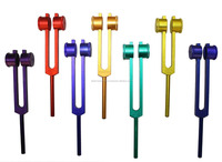 Radical 8 Chakra & Soul Purpose Cosmic Colored Weighted Healing Tuning Forks with Activator & Pouch