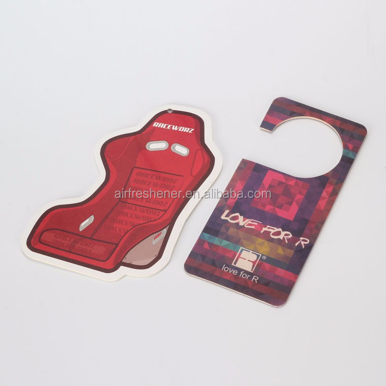 Car air freshener with header back print your logo