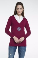 OEM Service clothing 14 GG Gauge knitted cardigan 2016 women sweaters