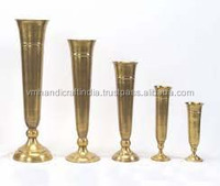 Gold trumpet vase for table decoration