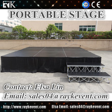 High quality electric swing stage portable stage with stage riser used stage for sale