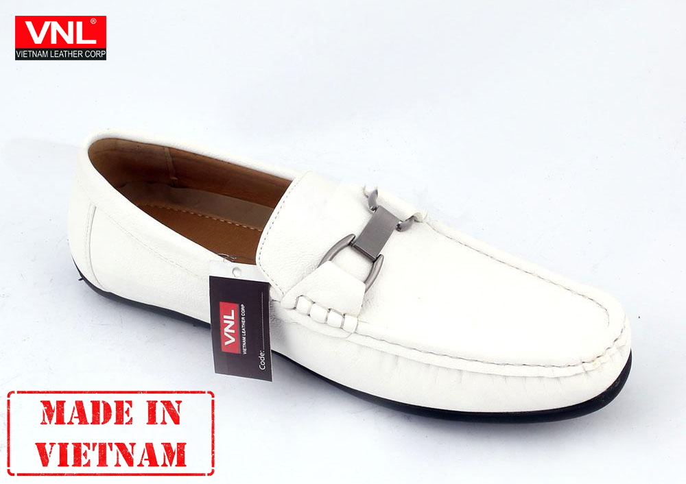 Stylish Loafer Genuine Leather Men's Shoes Leather Casual Shoe For Men White Modern Loafer
