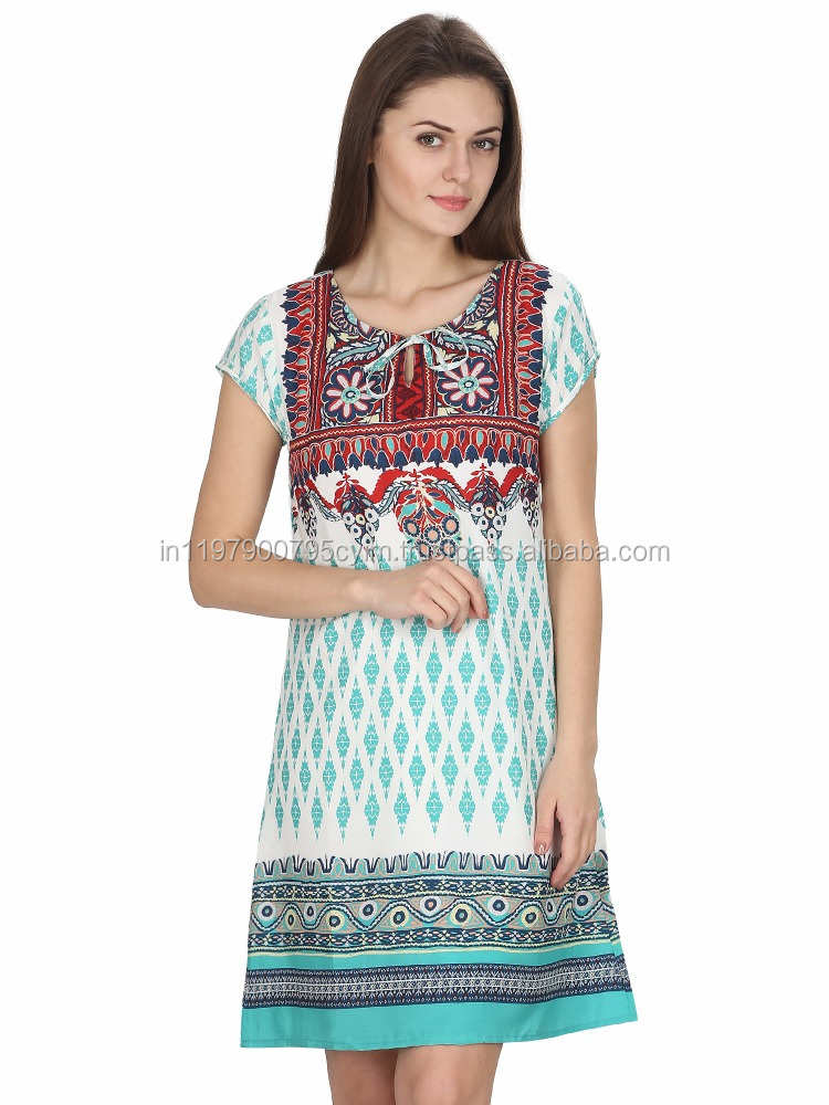 MansiCollections Ethnic Printed One Piece Dress