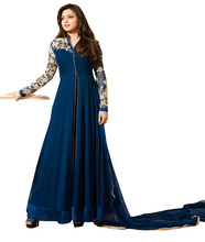 Women's Semi-Stitched Georgette With Beautiful Thread Embroidery Ankle Length salwar Kameez Dress Material (anarkali dresses)