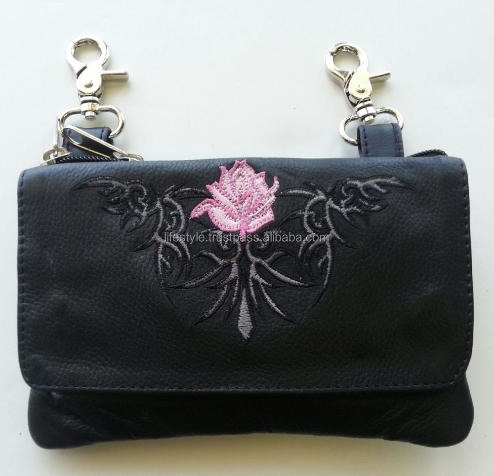coin purse leather flower coin purse handmade leather coin purse